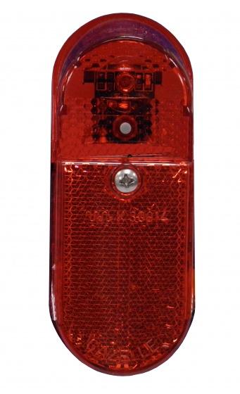 Gazelle Led XB achterlicht ovaal aan-uit batterij