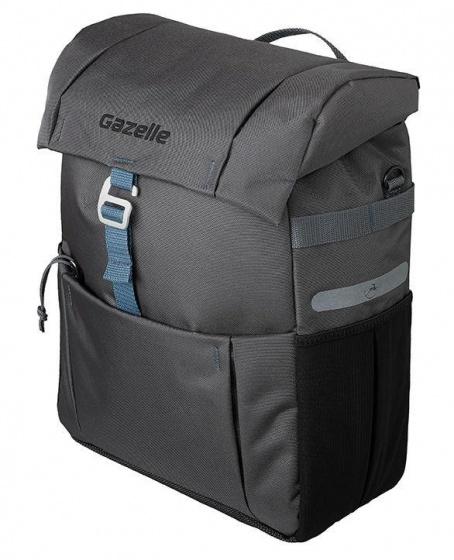 Gazelle pakaftas 18,5 liter antraciet/blauw