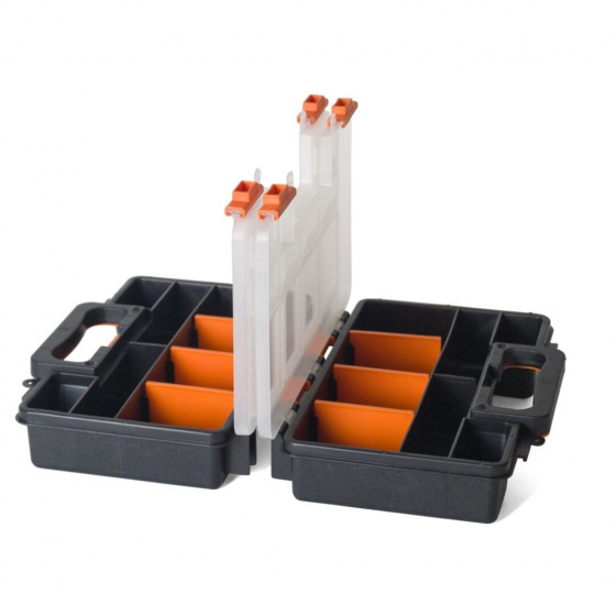 Gerimport gereedschapskoffer organizer 28 x 12 x 21 cm zwart