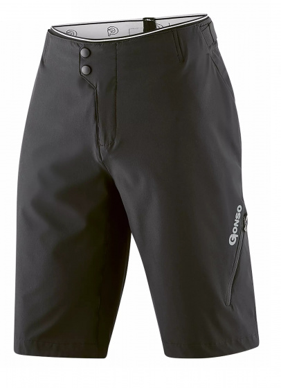 Gonso fietsbroek Fumero heren polyester/elastaan zwart maat L