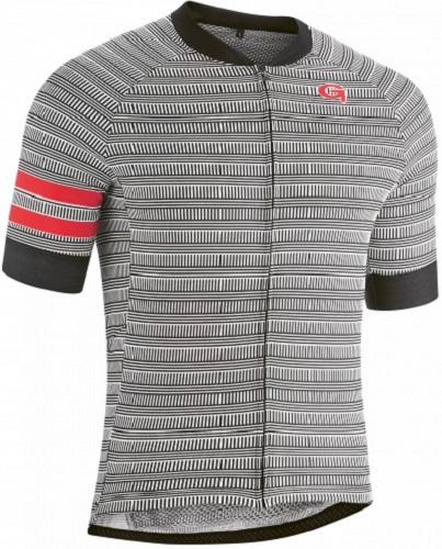 Gonso fietsshirt Cantun heren polyester zwart/wit maat L