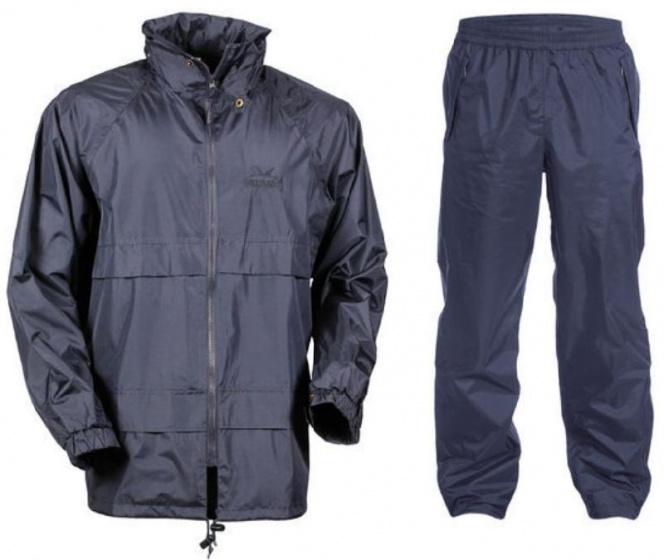 Greenlands regenpak polyester navy 2 delig maat S