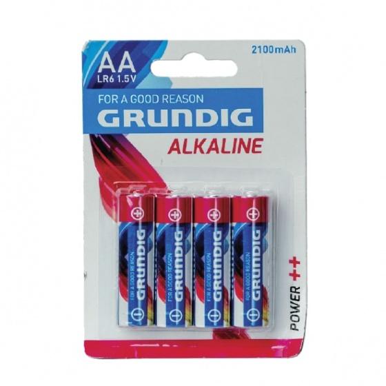 Grundig batterijen alkaline AA LR6 2100 mAh 4 stuks