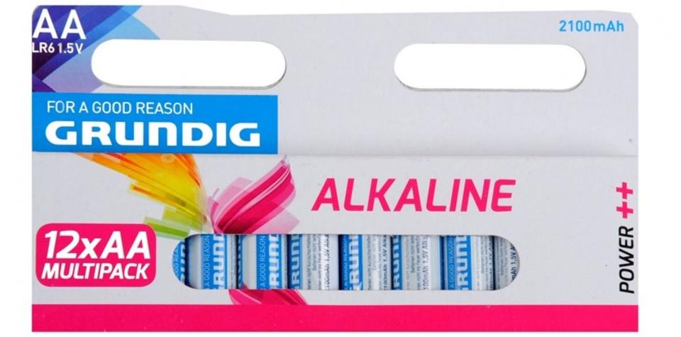 Grundig batterijen alkaline LR6 AA 2100 mAh 12 stuks