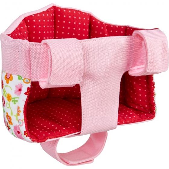 Haba poppenfietszitje multifunctioneel 17 cm roze