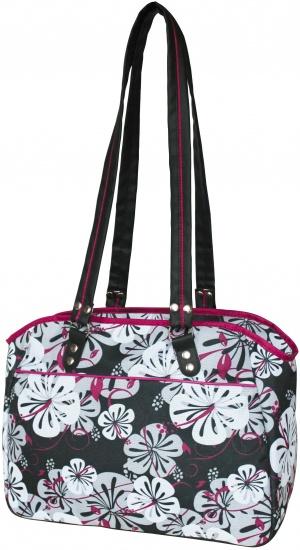 Haberland Modieuze Dames Shopper 15L Grijs Roze