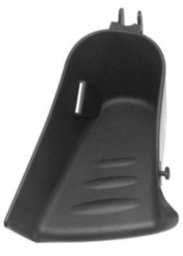 Hamax voetenbakje links 15 x 10 x 8 cm zwart per stuk