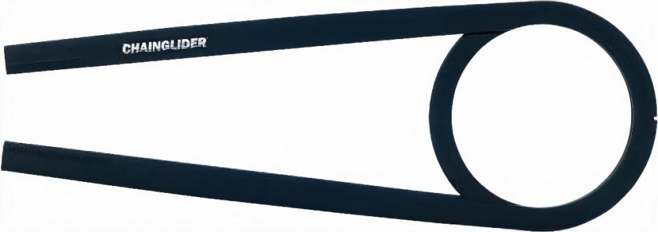 Hebie kettingscherm Chainglider 350F 445 mm 42T ABS zwart