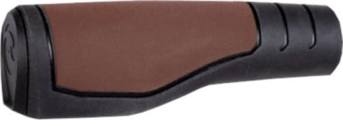 Herrmans handvatten Primo 90/130 x 22 mm elastomeer bruin