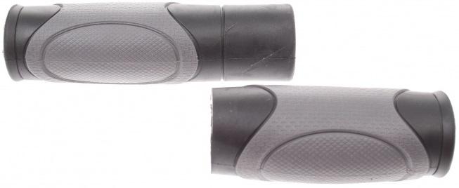 Herrmans handvatten Zeglo DD04 120/90 mm TPE zwart/grijs per set