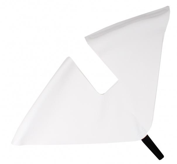 Hesling jasbeschermer 28 inch 48 cm wit