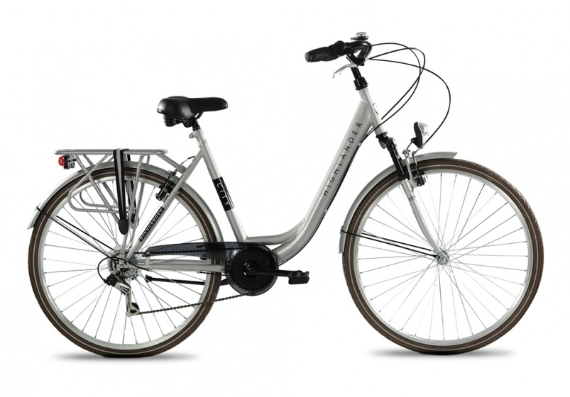 Highlander City 28 Inch 53 cm Dames 6V V Brake Zilver