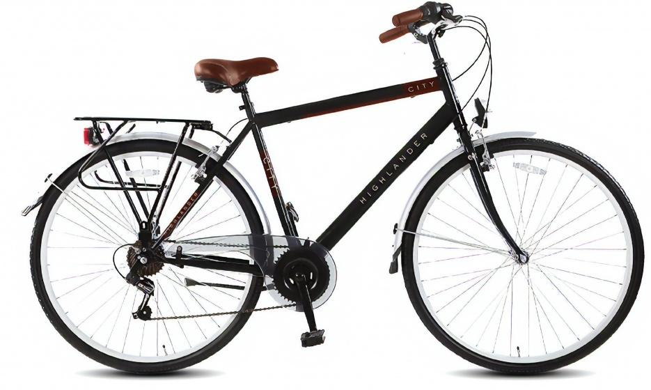 Highlander City 28 Inch 53 cm Heren 6V V Brake Zwart