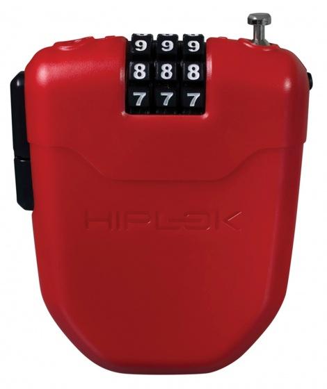 Hiplok kabelslot FX cijfercombinatie staal 1000 mm rood