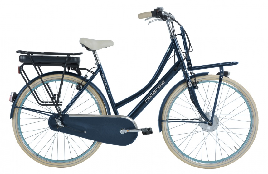 Hollandia Royal Ride E3 28 Inch 53 cm Dames 3V V Brake Jeansblauw