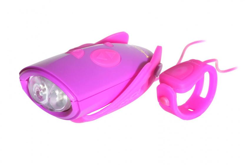 Hornit Mini fietsbel verschillende geluidseffecten meisjes roze/paars