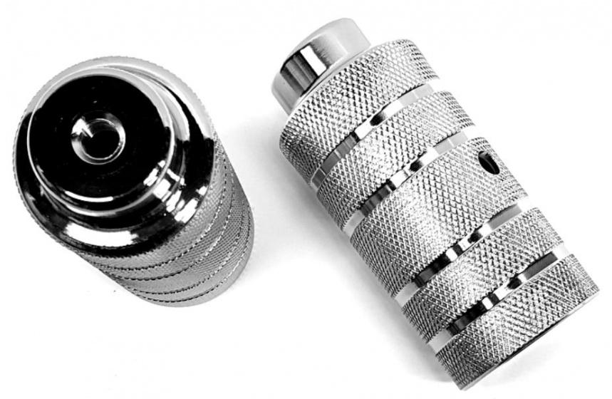 HZB asverlengers BMX Freestyle 11 cm staal zilver 2 stuks