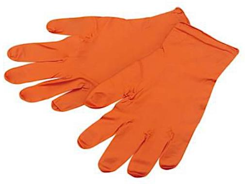 IceToolz wegwerphandschoenen 17G1L rubber oranje mt L 100 stuks