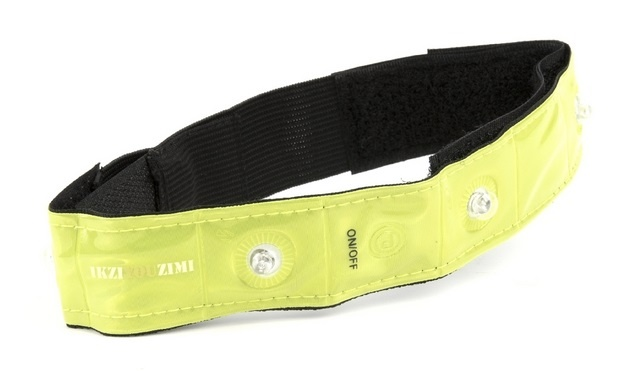 Ikzi Light reflecterende armband met led verlichting geel