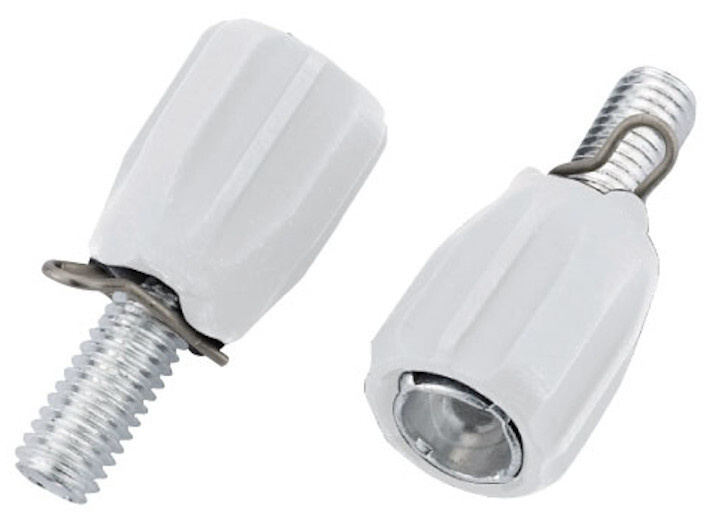 Jagwire stelboutjes voor achterderailleur M5 wit zakje 10 pcs