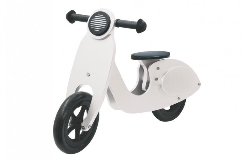 Push-Bike Wood Scooter Wit-Zwart
