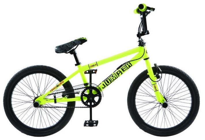 Winner BMX fiets 20 Inch 44 cm Unisex V Brake Geel