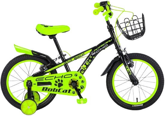 Kron Bobcat 16 Inch 25,4 Cm Jongens V-brakes Zwart/groen online kopen