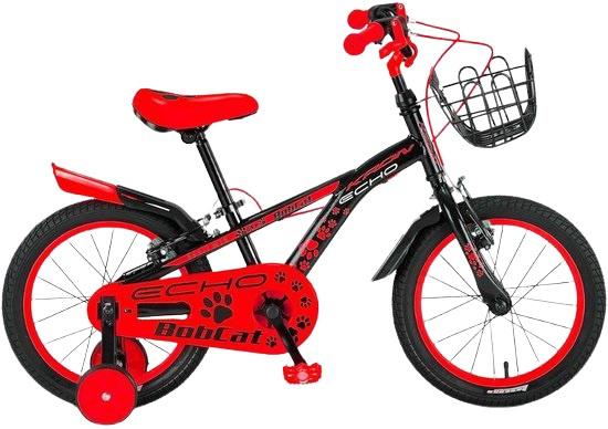 Kron Bobcat 16 Inch 25,4 Cm Jongens V-brakes Zwart/rood online kopen