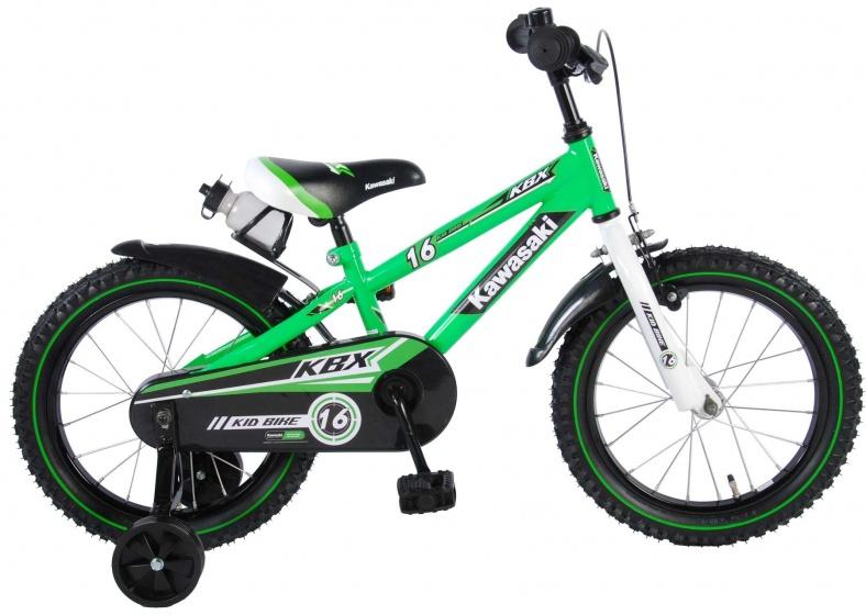 Kawasaki Kinderfiets 16 Inch 25,4 Cm Jongens Terugtraprem Groen online kopen
