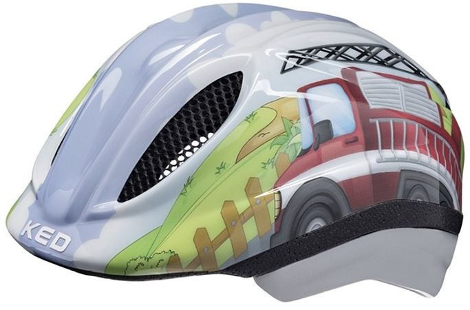 KED fietshelm Meggy II Brandweerauto jongens 52 58 cm maat M