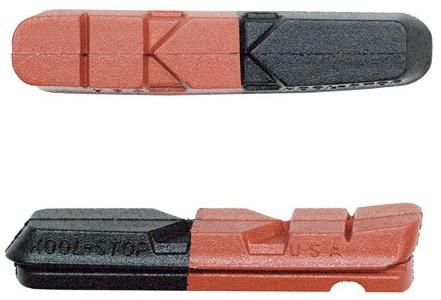Kool Stop remblokrubbers Dual V brake 55 x 12 mm zw/br 2 stuks
