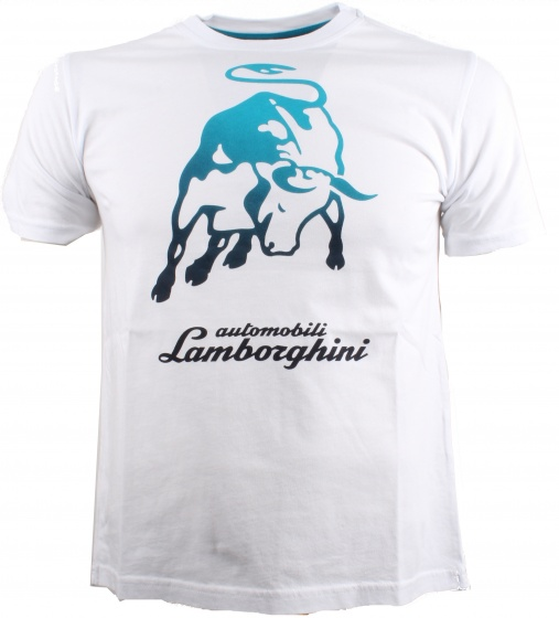 Lamborghini T Shirt Big Bull White Men