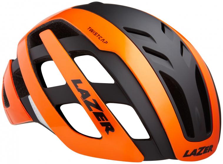 Lazer fietshelm Century led unisex oranje/zwart maat 52 56 cm