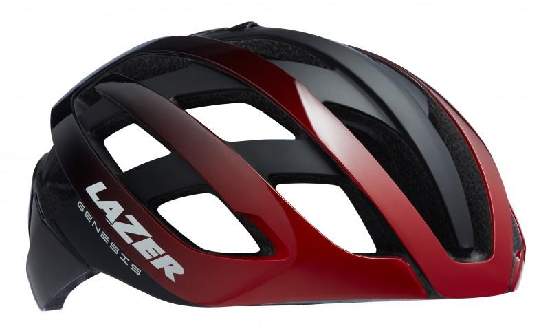 Lazer fietshelm Genesis unisex rood/zwart maat 55 59 cm