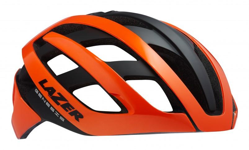 Lazer fietshelm Genesis unisex oranje/zwart maat 52 56 cm