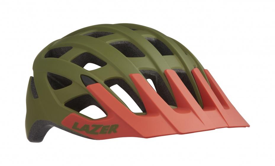 Lazer Roller MTB helm mat khaki oranje