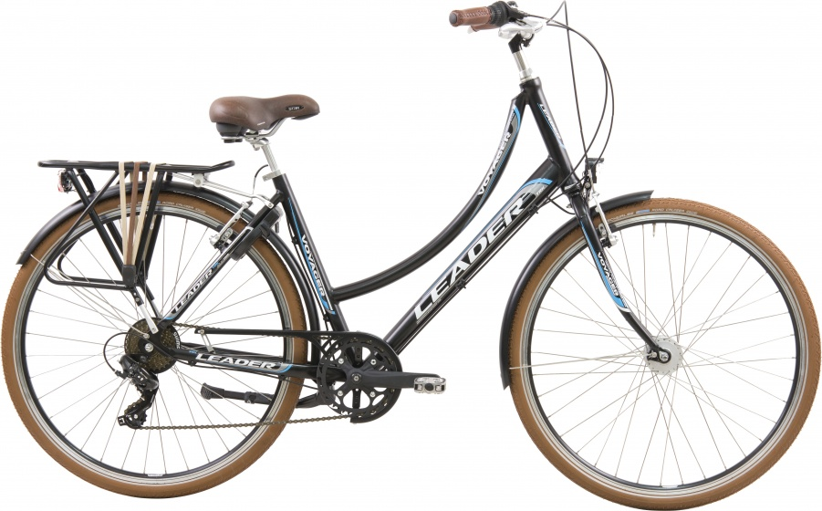 Leader City Voyager 28 Inch 50 cm Dames 7V V Brake Matzwart