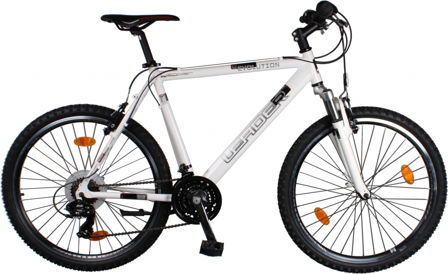 Leader Evolution 26 Inch Men 21SP Rim Brakes White - Giga-Bikes Tilburg