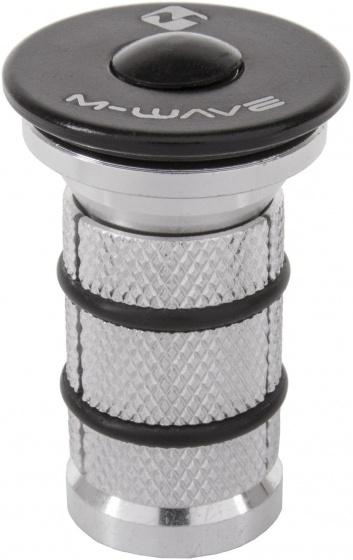 M Wave balhoofdplug 1 1/8 inch aluminium zilver/zwart