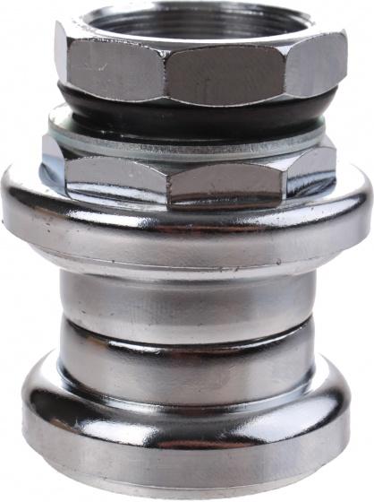 M Wave balhoofdstel met draad 1 1/8 inch staal zilver