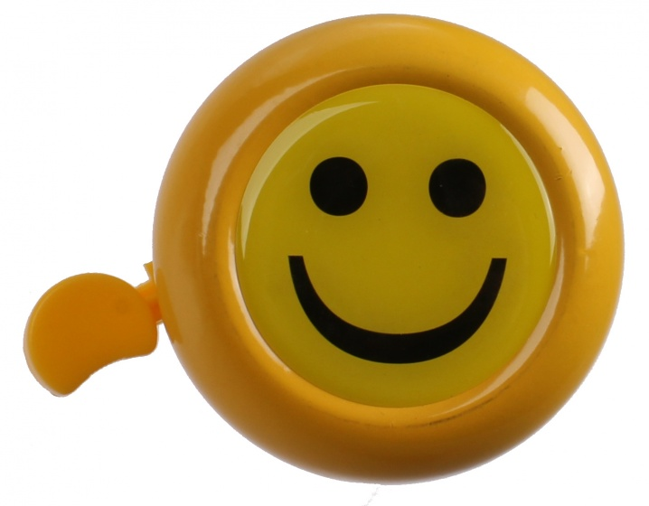 M Wave fietsbel Smiley 53 mm staal geel