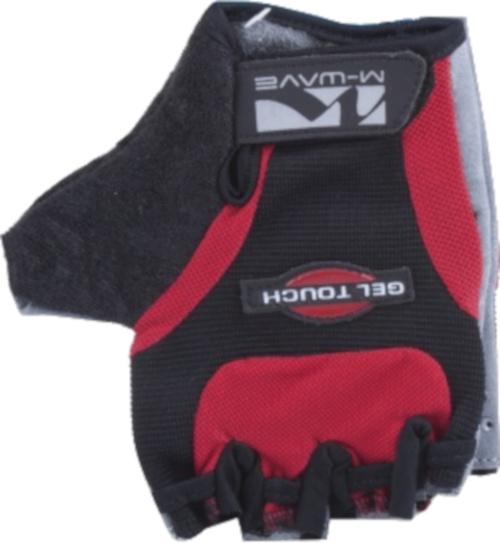 M Wave fietshandschoenen Gel Touch polyurethaan rood/zwart maat L