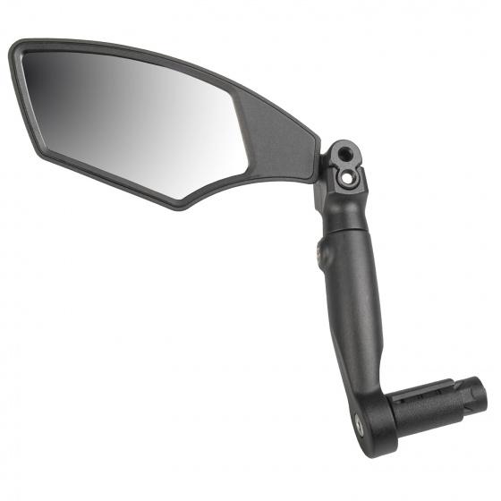 M Wave fietsspiegel links Barend glas/fiberglass zwart/zilver