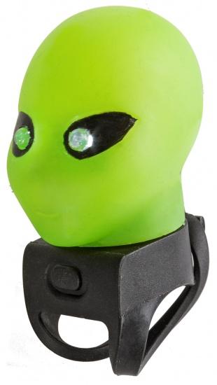 M Wave Fietstoeter Alien met LED licht groen