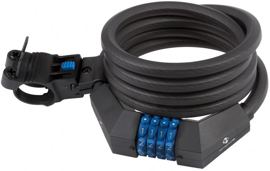 M Wave Spiraalslot DS 12.18 cijfercombinatie 1800 x 12 mm zwart