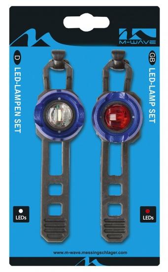 M Wave Verlichtingsset Apollon Mini a LED Batterij Blauw
