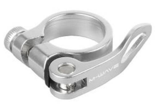 M Wave zadelpenklem met snelspanner 34,9 mm aluminium zilver
