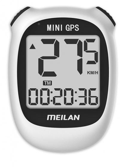 Meilan fietscomputer Mini GPS M3 oplaadbaar 1,7 inch grijs/zwart