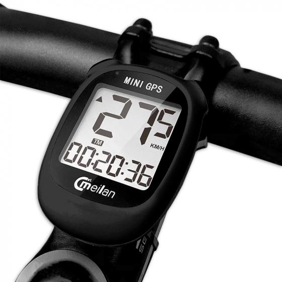 Meilan fietscomputer Mini GPS M3 89 gram 1.6 inch zwart