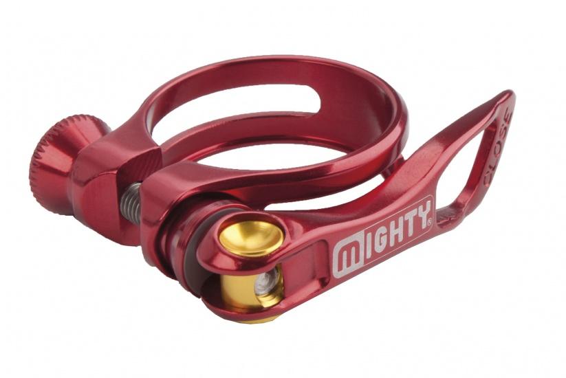 Mighty Zadelpenklem SC Slti met snelspanner 31,8 mm rood